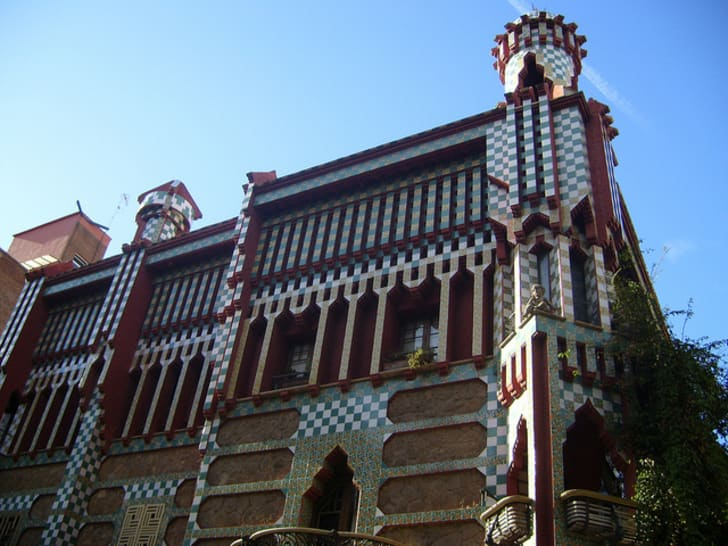 Catalan architect Antoni Gaudí's first home design project, Casa Vicens
