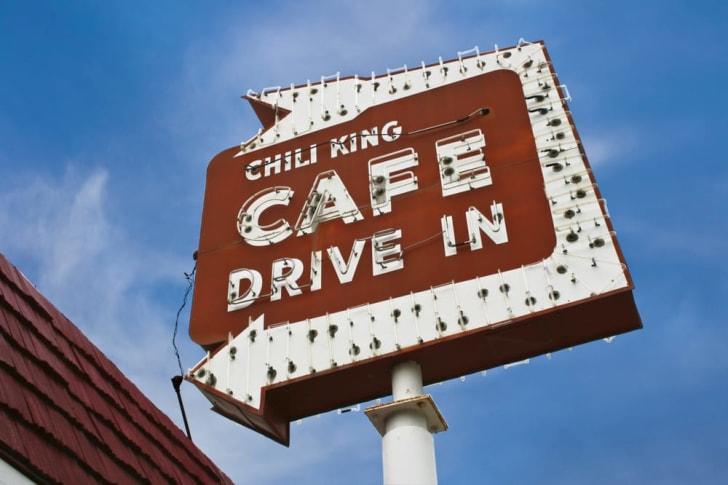 george the chili king signage