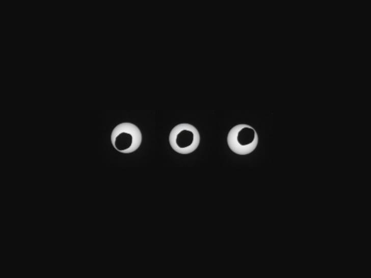 An annular eclipse, as captured by the Curiosity rover on Mars
