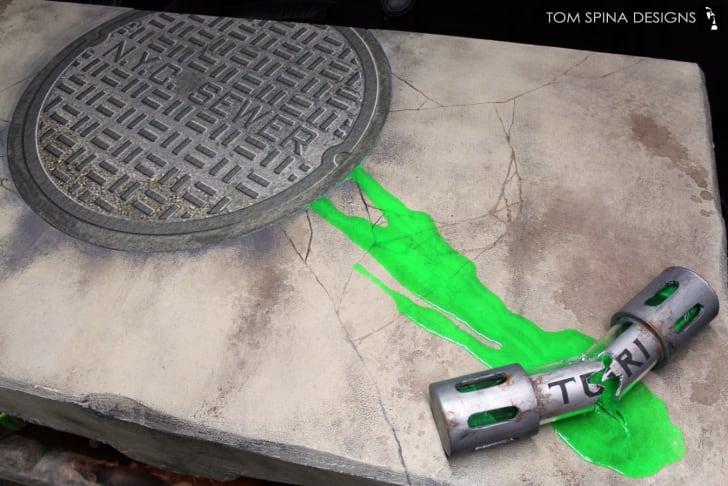 "A ""Teenage Mutant Ninja Turtles"" desk designed by Tom Spina"