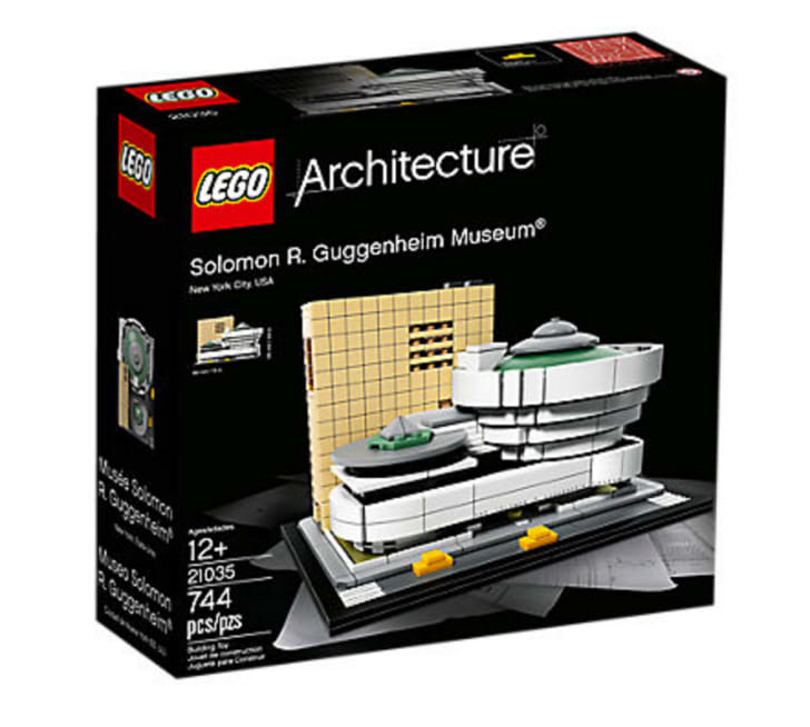 A LEGO set of the Solomon R Guggenheim Museum, designed by architect Frank Lloyd Wright