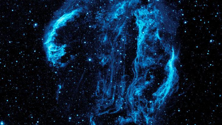 Telescope image of the Cygnus Loop Nebula.