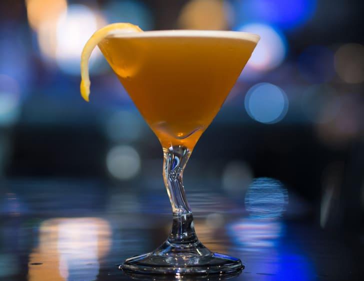 A sidecar cocktail