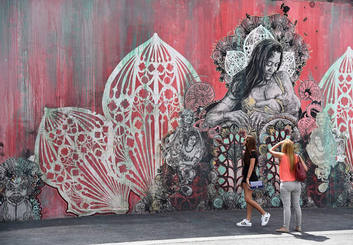 mural by US artist Swoon