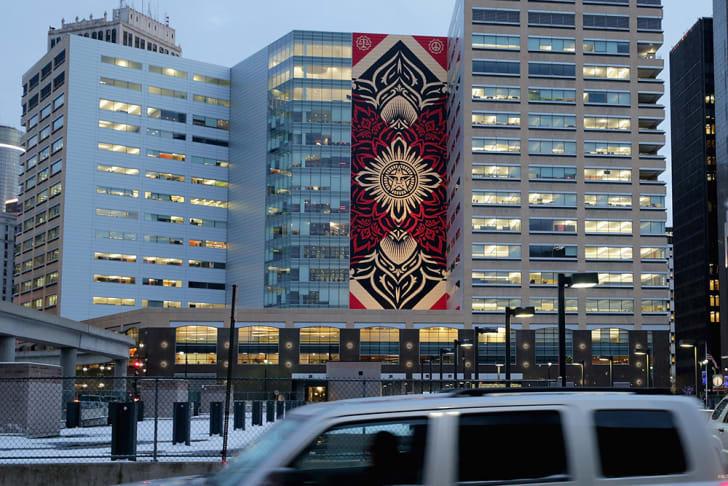 60-foot mural in Detroit, Michigan.
