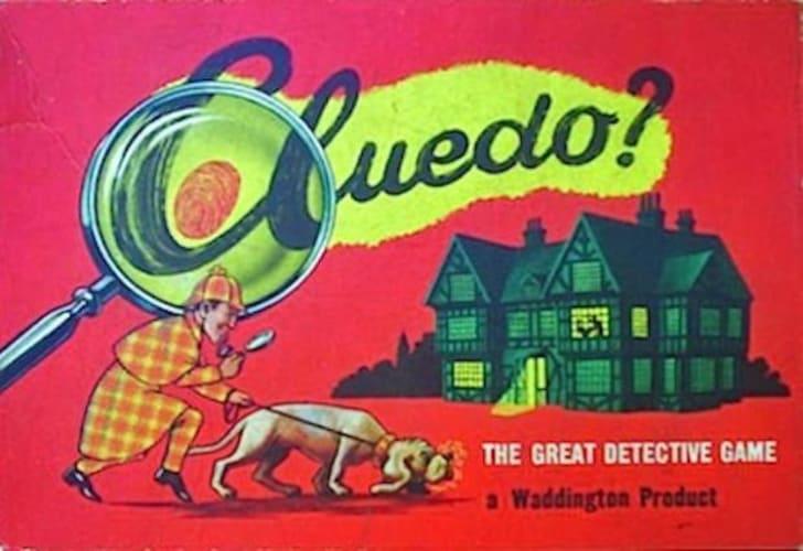 Cover of original Cluedo board game.