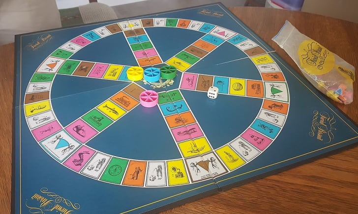 Original Trivial Pursuit board game.
