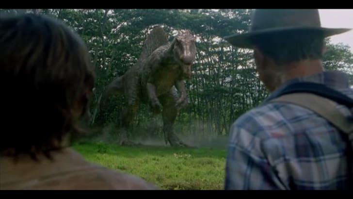 A Spinosaurus in Jurassic Park III.