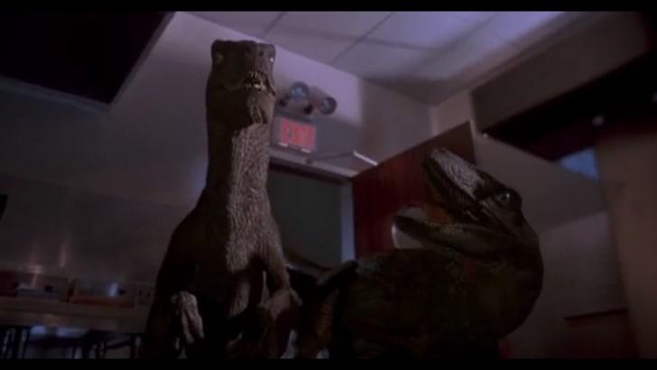 Velociraptors in Jurassic Park.