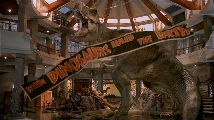A T. Rex in Jurassic Park.