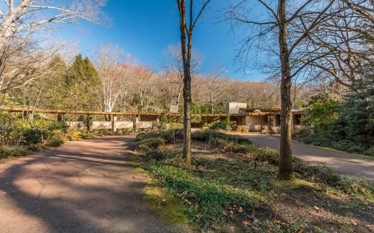 "Architect Frank Lloyd Wright's ""Tirranna"" home in New Canaan, Connecticut"