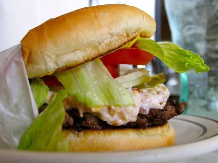 Nut Burger at Matt's Place