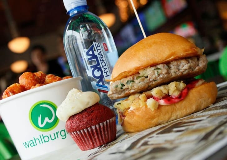 thanksgiving burger at wahlburgers