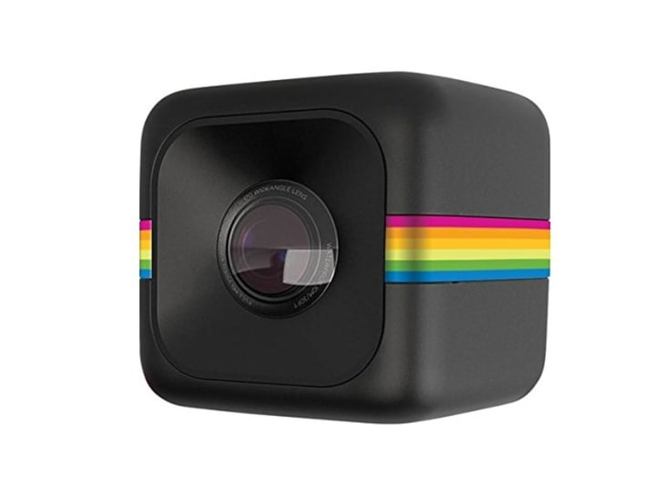 This is the Polaroid Cube+.