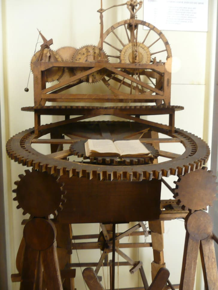 A photo of John Muir's clockwork study desk.