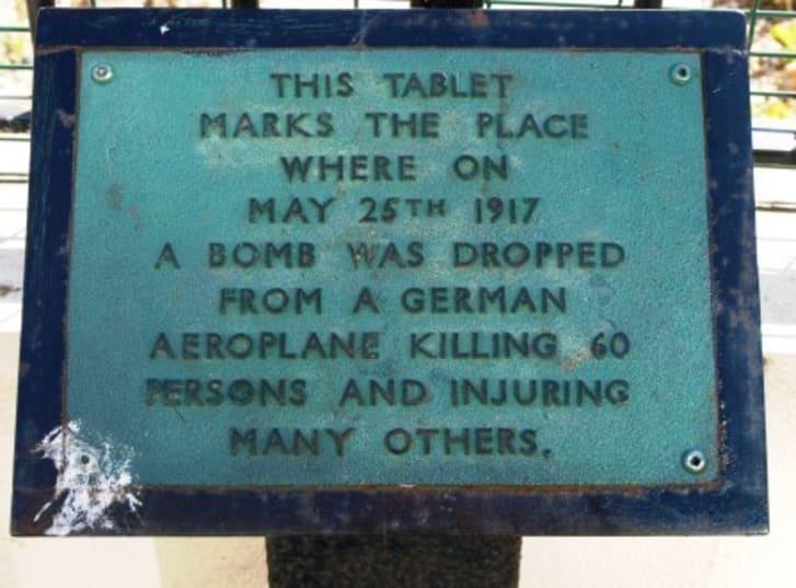 Memorial to 1917 Air Raid Tontine Street