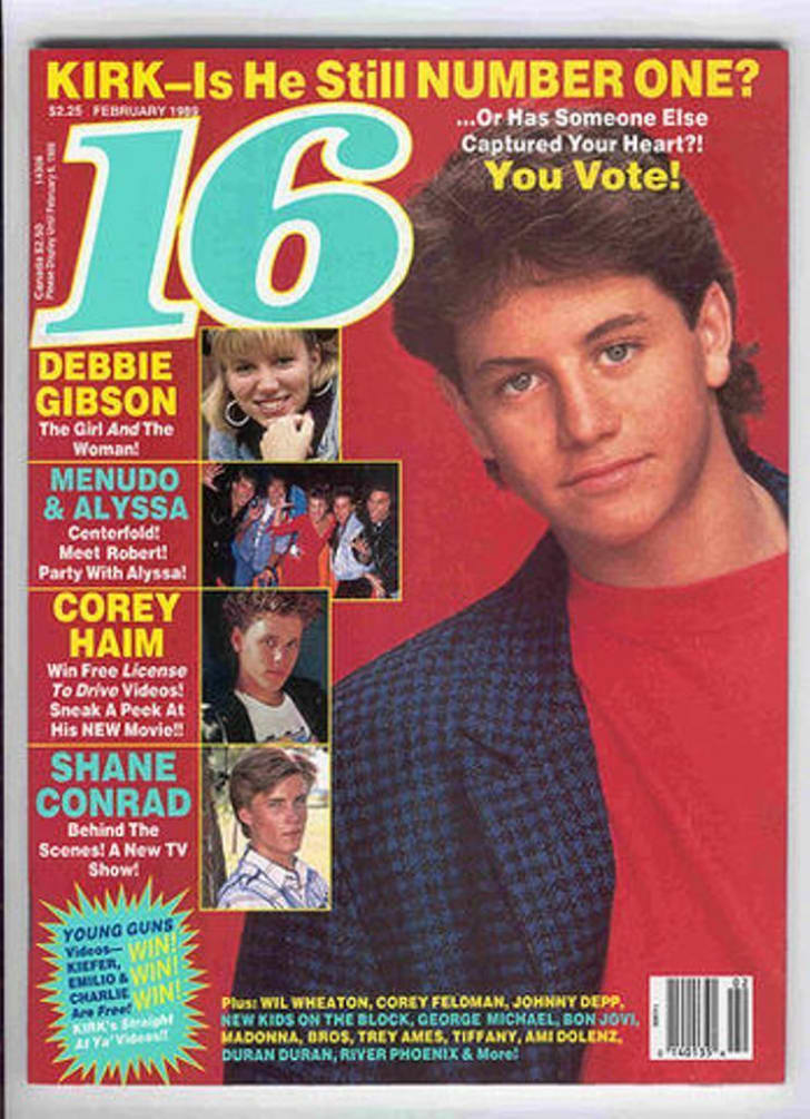 Kirk Cameron poses for a February 1989 issue of 16 magazine