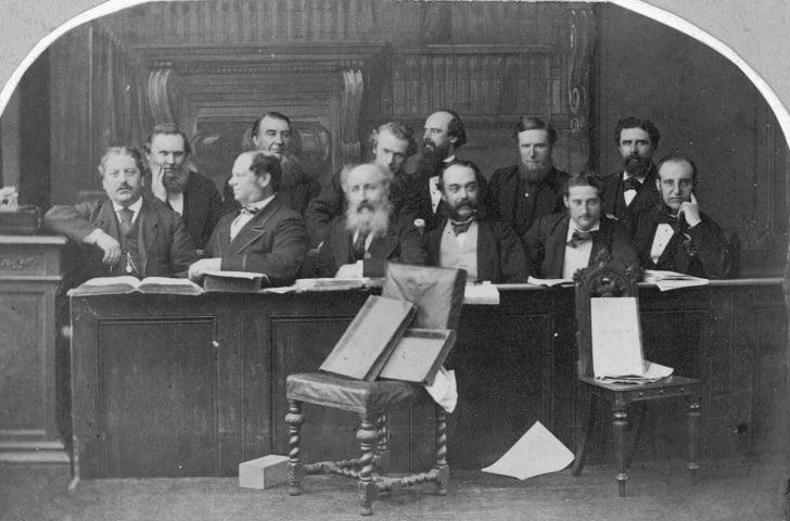 The jury in the Tichborne Trial, circa 1873