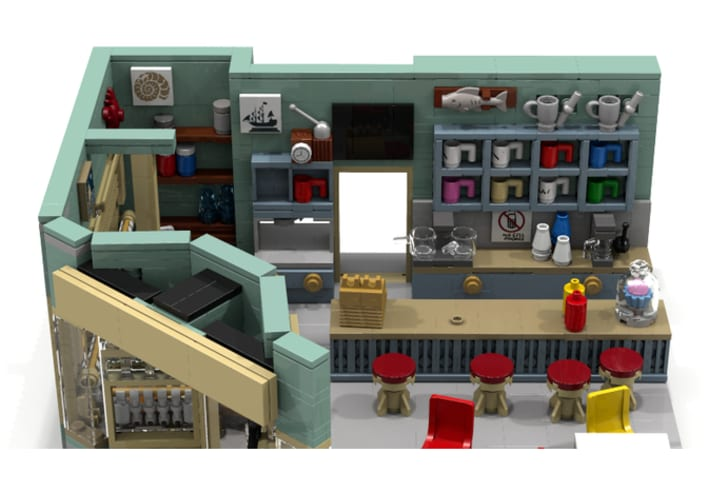 Luke's Diner from Gilmore Girls as a LEGO set