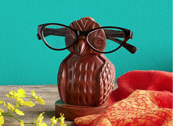 Owl glasses holder
