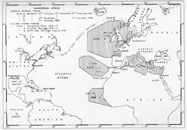 U-boat map