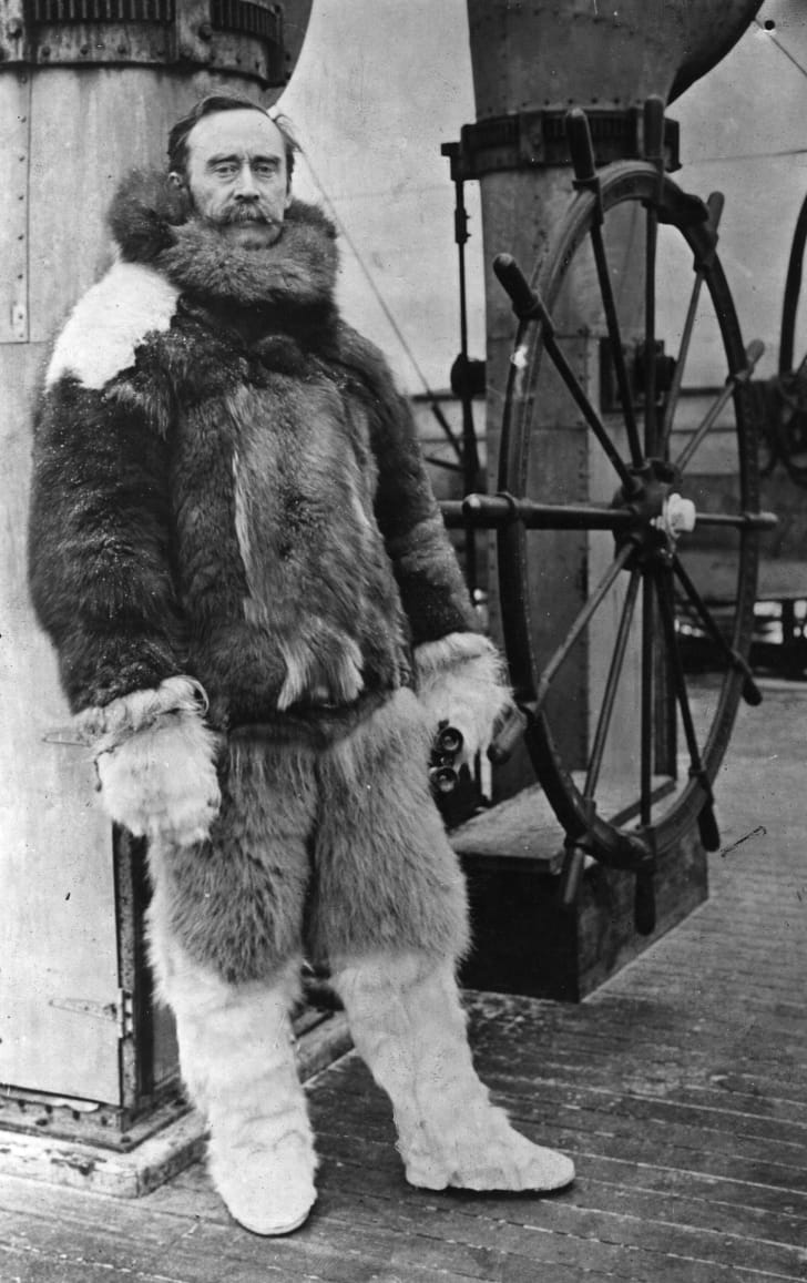 Explorer Robert Peary aboard the Roosevelt.