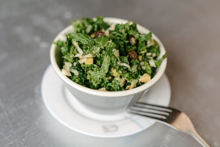 kale salad at desert roots