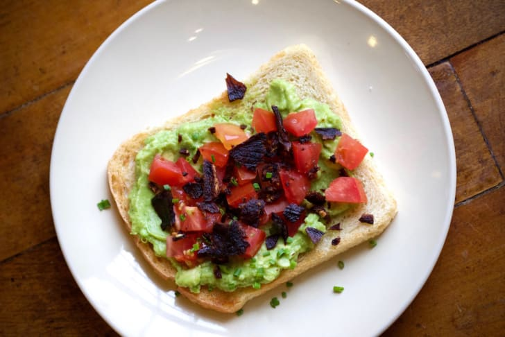 avocado toast at pingala cafe