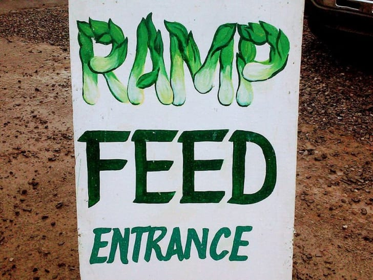 A sign for a ramp festival in West Virginia.