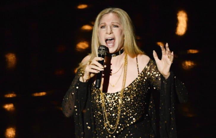 Barbra Streisand on stage