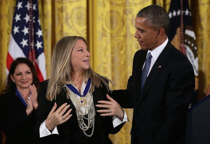 Barbra Streisand with Barack Obama