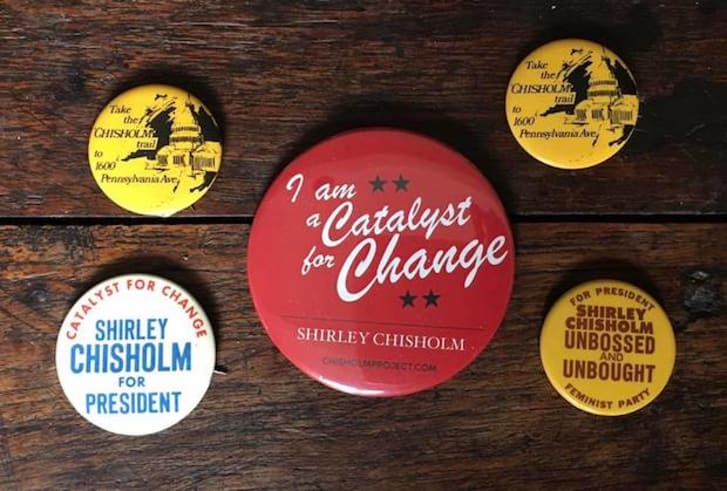 Political buttons from the collection of Alix Kates Shulman