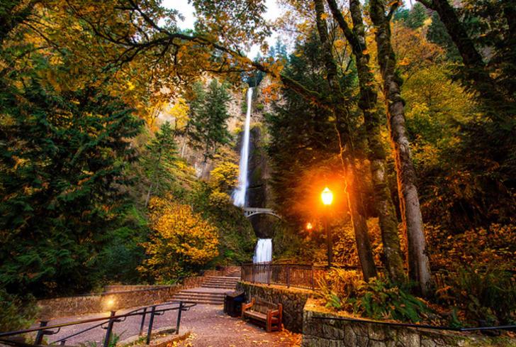 Columbia River Gorge fall foliage, Oregon