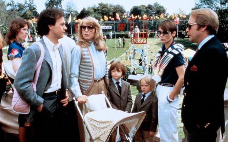 Teri Garr, Michael Keaton, Taliesin Jaffe, Frederick Koehler, and Martin Mull in Mr. Mom (1983)