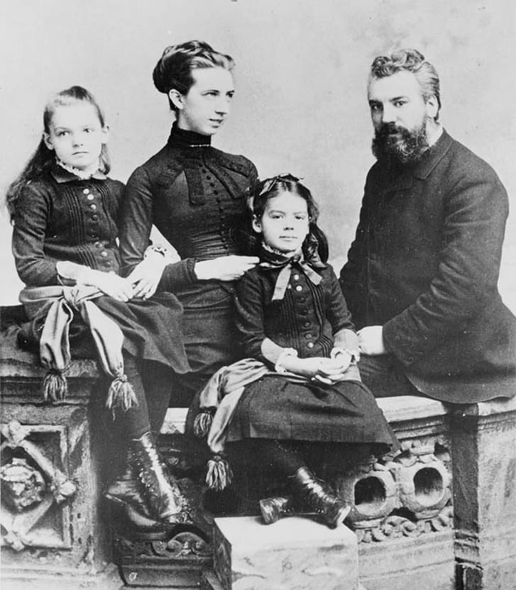 Alexander Graham Bell and his family