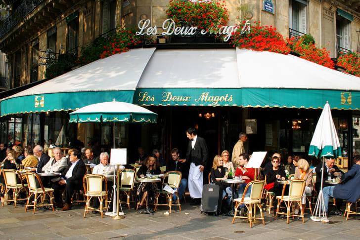 Café Les Deux Magots in Paris