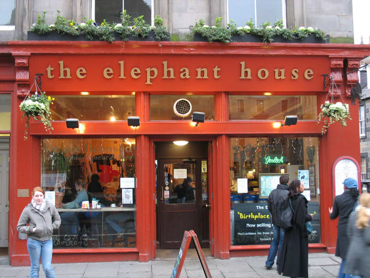 The Elephant House cafe in Scotland