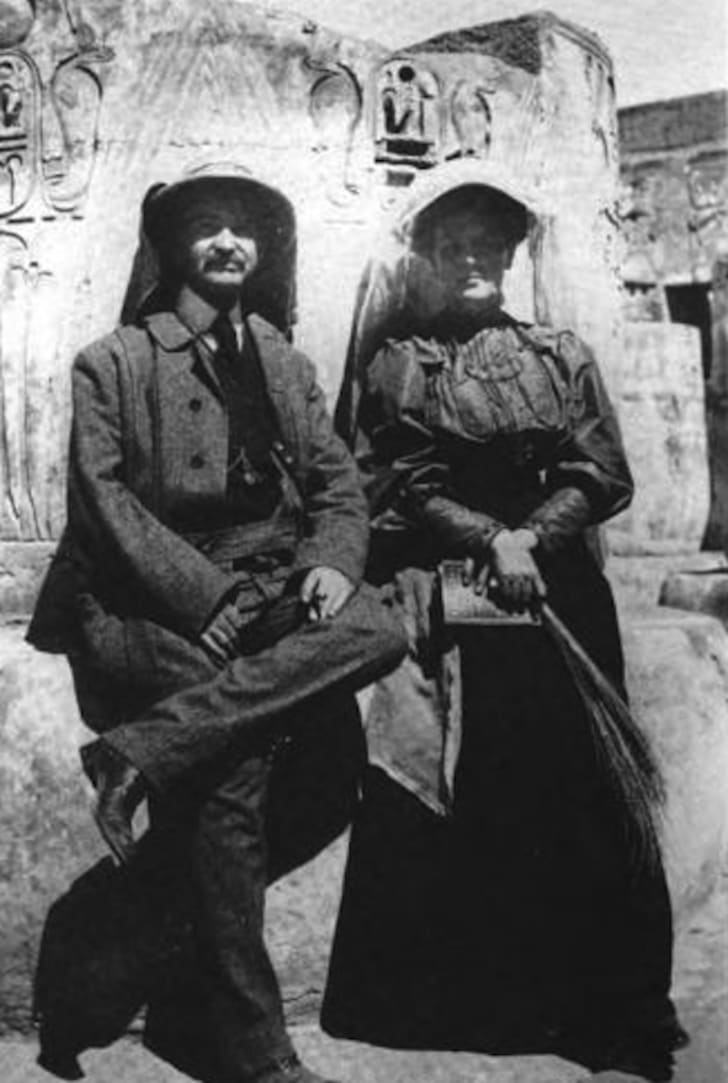 L. Frank and Maud Baum on a trip to Egypt