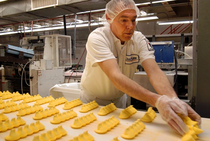 Making Peeps at the Just Born factory