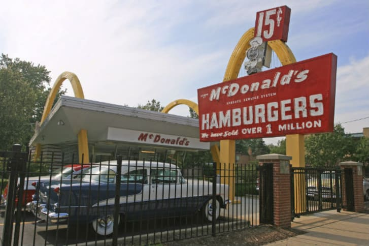 The first McDonald's Store Museum found by McDonald's Corporation founder, Ray Kroc, opened on April 15, 1955.