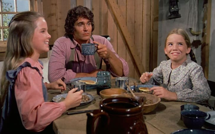 A scene from 'Little House on the Prairie'