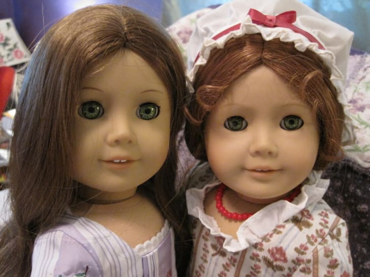 custom, Parts American Girl 1 pair PC Soft Lash Felicity green eyes Repair