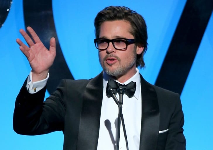 Actor/producer Brad Pitt accepts the PGA Visionary Award onstage during the 26th Annual Producers Guild Of America Awards at the Hyatt Regency Century Plaza on January 24, 2015 in Los Angeles, California