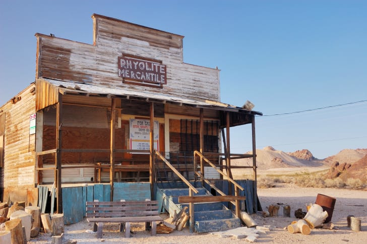 The abandoned General Store in Rhyolite, Nevada