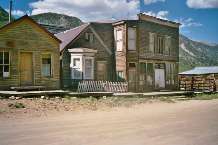 A scene in the ghost town of St. Elmo