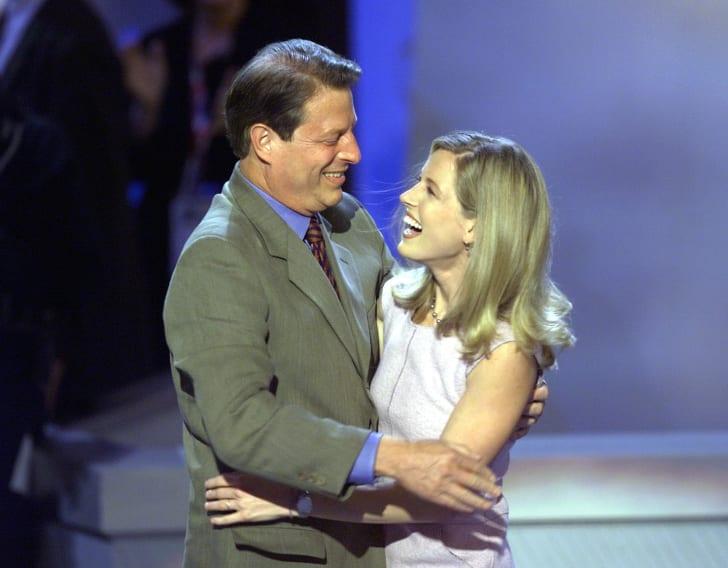 Al Gore and his daughter, Karenna
