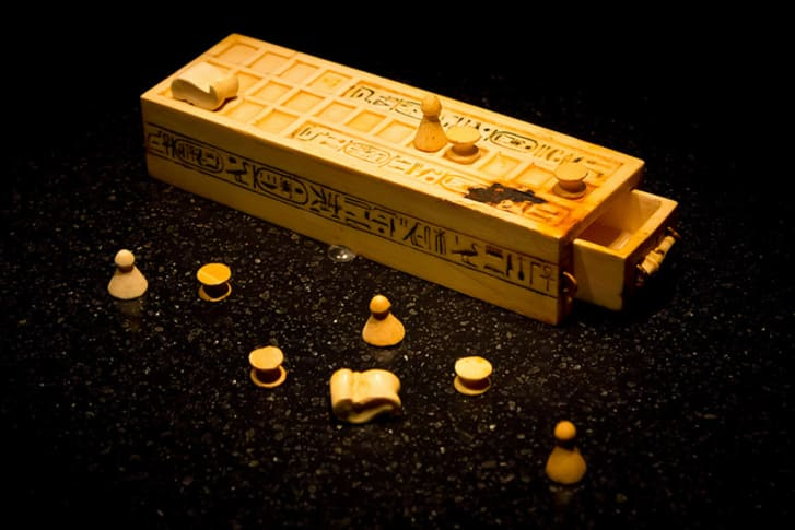 The ancient board game senet.