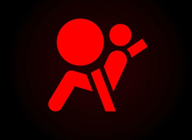 Car dashboard's airbag indicator