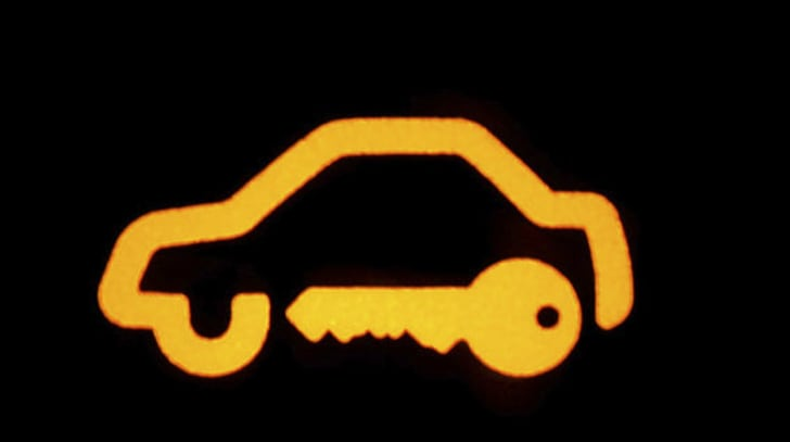 Car dashboard's security light