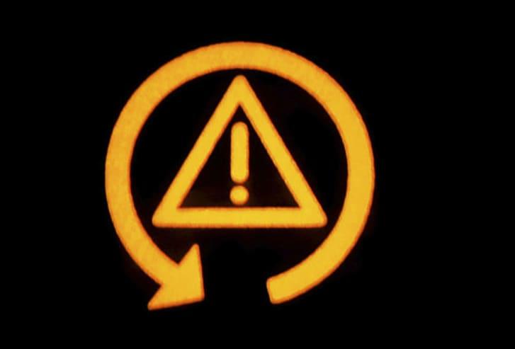 Car dashboard's traction control malfunction